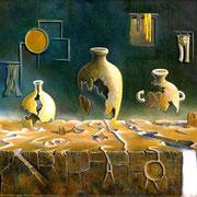 Los Antiguos (Anasazi) - Oleo 50x60 (2004) - Daniel Dankh