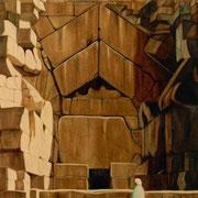 La Grán Pirámide - Oleo 103x93 (1993) - Daniel Dankh