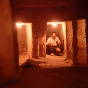 Casmaras subterraneas de la piramide de Micerino,Giza, El Cairo.