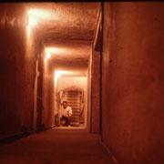 Pasajes internos de la piramide de Kefren