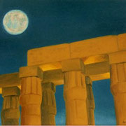 Magia nocturna de Luxor - Oleo 30x40 (2000) - Daniel Dankh