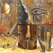 Mural Egipcio - Oleo 50x60 (2003) - Daniel Dankh
