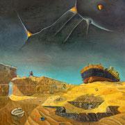 Un Rincon del Universo - Oleo 90x80 (2007) - Daniel Dankh