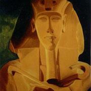 Akhenaton - Oleo 113x77 (1992) - Daniel Dankh