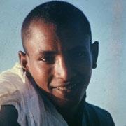 Uno de los dos muchachos que tripulaban el falucho que nos llevo hasta Isla Banana cercana a Luxor