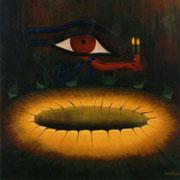 El viaje de Pashedu - Oleo 100x100 (2000) - Daniel Dankh