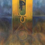El poder de Ra - Oleo 70x60 (2003) - Daniel Dankh