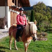 Zu einem richtigen Bauernhof gehören auch Haflinger Pferde. Ihre Kinder können auch mal darauf reiten.