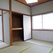 北側の和室6帖、押入れがあります