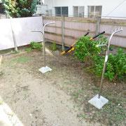 南側の専用庭。ガーデニングが楽しめます。