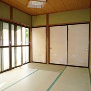 1階LDK横の和室6帖。収納2ヶ所付き