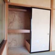2階和室6帖の収納は、中段、枕棚付き