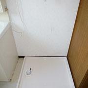 洗面化粧台横の洗濯機置場