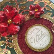 Weihnachtskarte Rot-Gold