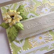 Glückwunschkarte Blumen