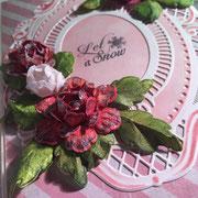Glückwunschkarte Rosa Rosen