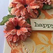 Glückwunschkarte Orange