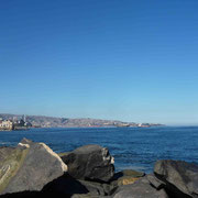 Vue de Valparaiso depuis la station balnéaire