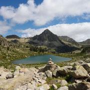 Lac de Gourguet et pic de Bastan