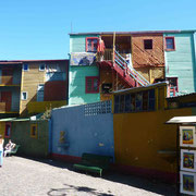 Quelques maisons colorées du Caminito dans le quartier de La Boca