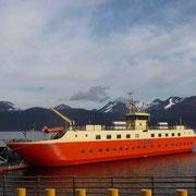 Notre bateau occupé depuis Punta Arenas