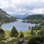 Le lac glaciaire d'Aumar