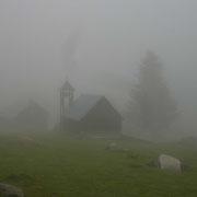 Ciel bien bouché le matin sur le camp Bernard Rollot au Lienz