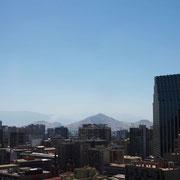 Du haut du Cerro Santa Lucia, vue sur la capitale