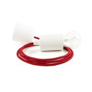 Kolorowe kable lampa białe dodatki kabel czerwony