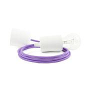 Kolorowe kable lampa białe dodatki kabel fioletowy