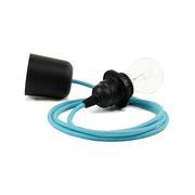 Kolorowe kable zawieszenie czarne dodatki kabel niebieski