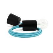 Kolorowe kable lampa czarne dodatki kabel niebieski