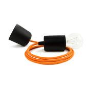 Kolorowe kable lampa czarne dodatki kabel pomarańczowy