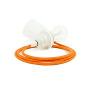 Kolorowe kable zawieszenie białe dodatki kabel pomarańczowy