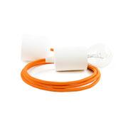 Kolorowe kable lampa białe dodatki kabel pomarańczowy