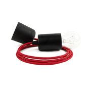 Kolorowe kable lampa czarne dodatki kabel czerwony