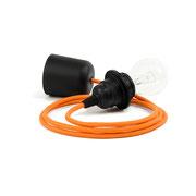 Kolorowe kable zawieszenie czarne dodatki kabel pomarańczowy