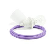 Kolorowe kable zawieszenie białe dodatki kabel fioletowy