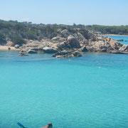 """Das Wasser in """"scheiß Türkis"""" so muß das :-) auf einem Segeltörn zwischen Korsika und Sardinien"""
