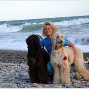 Мэгги, Черри и Ольга на море :)