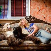 Мэгги 9 месяцев, Черри и Ольга в Омске (фото Ю. Кашуба)