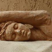 Sleep, Sculpture in earthenware, Sarah Myers