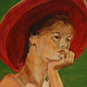The Hat, Painting in acrylic, Sarah Myers