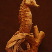 Seahorse, Sculpture in earthenware, Sarah Myers