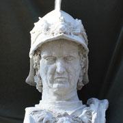 Condottiere, Sculpture in stoneware, Sarah Myers