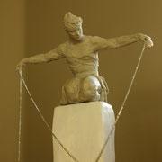 Kneeling Woman, Sculpture in stoneware, Sarah Myers