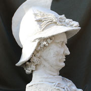 Condottiere, Sculpture in stoneware, Sarah Myers