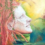 """""""Lorina"""", Ausschnitt, Original: 80 x 100 cm, Öl auf Leinwand, 2014"""