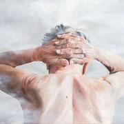 """ohne Titel, aus der Serie """"Schleierhaftes"""", 100 x 80 cm, Öl auf Leinwand, 2013"""