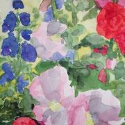 Im Garten I, 2009, 30 x 40 cm, Aquarell